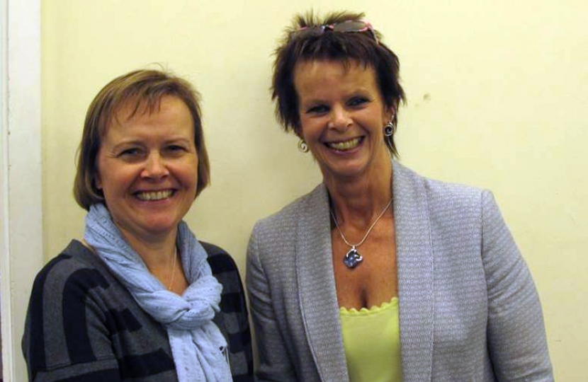 Liz Townsend with Anne Milton MP